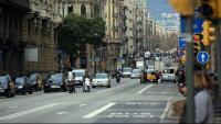 Una imatge d'arxiu de la Via Laietana