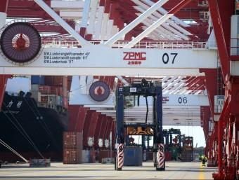 Terminal BEST de Tercat al Port de Barcelona.  ARXIU/QUIM PUIG