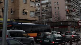 Una de les càmeres instal·lades a la carretera de Barcelona. JOAN SABATER