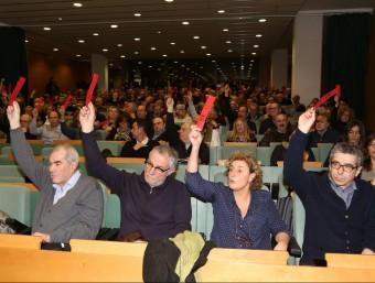 Membres de Moviment d'Esquerres reunits en una assemblea aquest gener passat. ANDREU PUIG