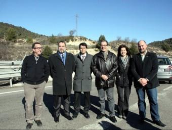 Els alcaldes afectats i Macias, a l'A2 ACN