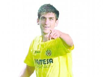 Gerard Moreno, celebrant un dels tres gols que li va marcar a l'Apollon xipriota en l'Europa League, competició on ha mostrat el seu potencial com a gran davanter de futur AFP