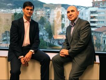 Paulino de Evan i Jorge Bustos, socis fundadors i màxims accionistes de Finanzarel.  ELISABETH MAGRE