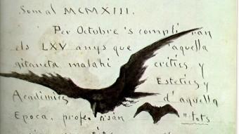Reproducció d'una lamina de l'artista Modest Urgell. EL PUNT AVUI