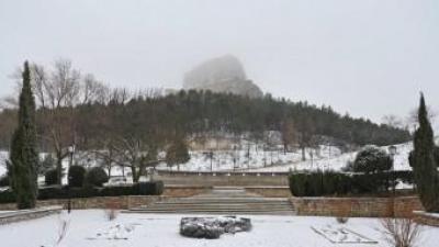 Primera nevada de Morella el passat 21 de gener. EL PUNT AVUI