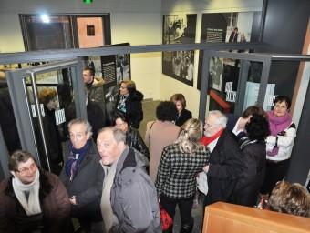 La sala d'exposició a la planta baixa de la Casa de la Generalitat de Perpinyà CDG