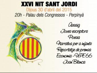 Cartell de l'edició 2015 de la Nit de Sant Jordi