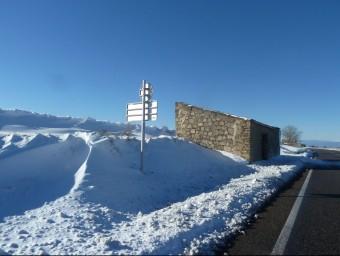 Neu a la C-14, a l'Urgell, l'endemà del temporal EVA POMARES