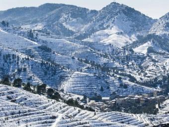 Imatges d'un dia després de la nevada una estampa del Priorat i  JOSÉ CARLOS LEÓN I JUANMA RAMOS