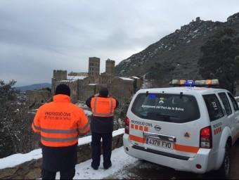Una vista del monestir de sant Pere de Roda nevat. EL PUNT AVUI