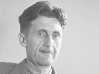 The influential English novelist George Orwell.