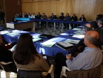 La reunió de la junta consultiva de la reserva es va fer a la Sénia. ACN/JORDI MARSAL