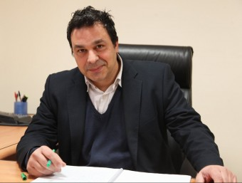 Enric Moros, gerent del grup Obrelsa, a la seu barcelonina de l'empresa.  ELISABETH MAGRE