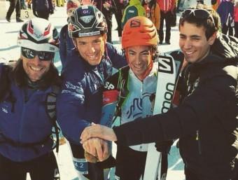 Martín, Pinsach, Jornet i Oriol Cardona, després dels relleus, en què van ser quarts FEDME