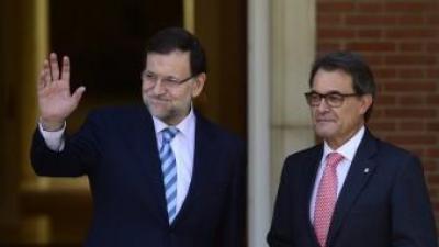Els presidents del govern espanyol, Mariano Rajoy, i de la Generalitat, Artur Mas, en una trobada a La Moncloa el passat juliol REUTERS