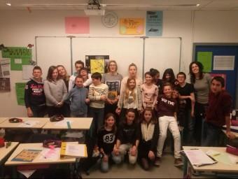 Els alumnes de cinquena del col.legi de la Bressola de Perpinyà.