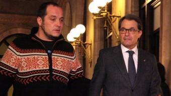 Artur Mas i el president de la comissió del cas Pujol, David Fernández. ACN