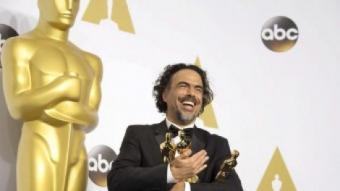 Alejandro González Iñárritu, satisfet amb els tres Oscars guanyats ARMANDO ARORIZO/EFE
