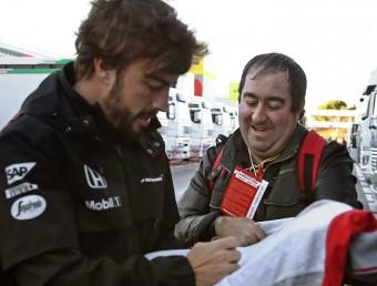 Fernando Alonso, al circuit de Catalunya T. ALBIR / EFE