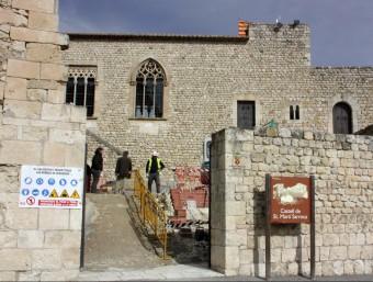 Imatge de les reformes que s'estan fent al castell romànic de Sant Martí Sarroca ACN