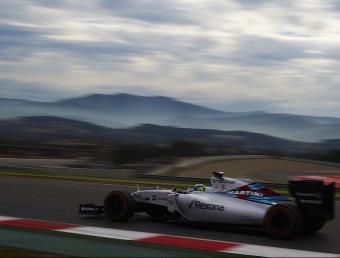 Massa, (Williams) durant els entrenaments d'ahir al Circuit de Barcelona-Catalunya SIU