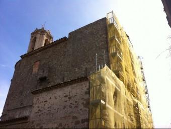 L'església de Sant Feliu de Parlavà, en una imatge d'aquesta matiexa setmana. JOAN PUNTÍ