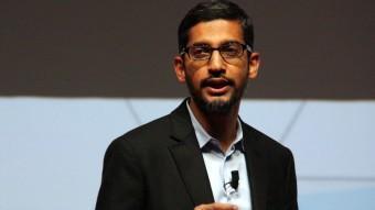 El vicepresident de Google, Sundar Pichai, al WMC 2015 aquest dilluns ACN/JOSEP RAMON TORNÉ