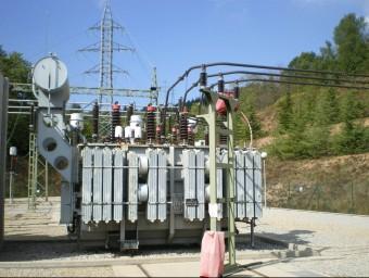 Imatge de la subestació d'Endesa a Sant HIlari on s'ha col·locat el nou dispositiu de telecontrol EL PUNT AVUI