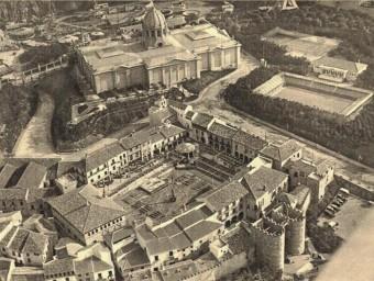 Vista aèria de l'antic Palau de la Química, seu dels estudis cinematrogràfics Orphea.  ARXIU