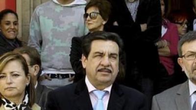 Francisco Martínez, segon per l'esquerra en una imatge d'arxiu. ARXIU