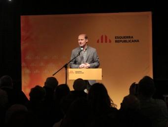 El president comarcal, Jordi Vilà, en la seva recent presentació com a cap de llista d'ERC a Sant Feliu de Guíxols E.A