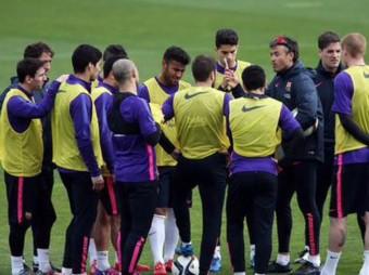 Entrenament del primer equip de futbol del FC Barcelona aquest dilluns MIGUEL RUIZ - FCB