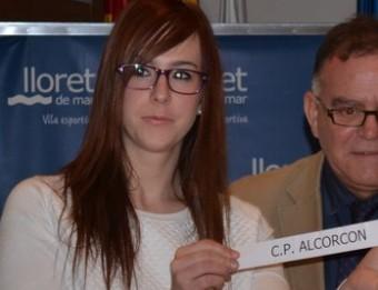 Anna Romero en el sorteig de la copa a Lloret A. CAMPS