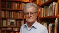 Xavier Folch va ser un reconegut editor, polític i activista cultural; a la imatge, a casa seva el 2015
