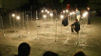 Un espectacle de llum a la plaça dels Apòstols, en una imatge d'arxiu. EPA
