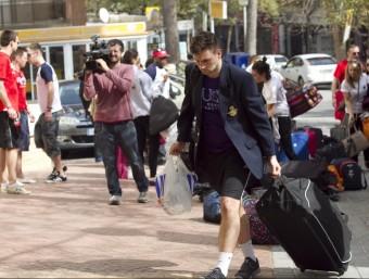 Arribada d'un grup de joves britànics a la capital de la Costa Daurada, en una edició anterior del Saloufest JOSÉ CARLOS LEÓN