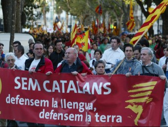 Manifestació a Perpinyà el 7 de novenbre,durant la Diada de la Catalunya Nord A.R