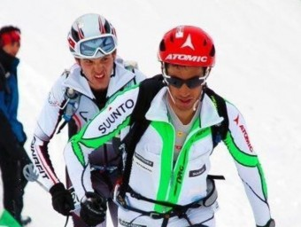 Jornet (al davant) i Pinsach , en la Pierra 2012 L'ESPORTIU
