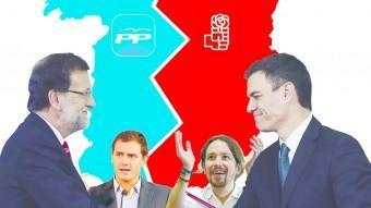 Rajoy i Sánchez.