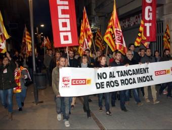 La manifestació va recórrer ahir a la tarda els carrers de Tàrrega ACN