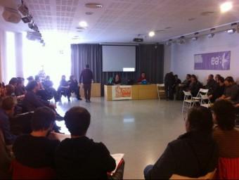 Una assemblea de les candidatures que es va fer el mes passat a a Barberà CAV