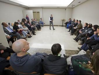 Trobada d'emprenedors amb els voluntaris que els assessoraran, dins del programa Genera de la Fundació Pinnae.  ARXIU