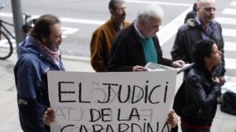 Manifestació durant el judicil pel setge al Parlament. ORIOL DURAN