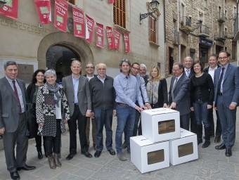 La vicepresidenta del Govern, Joana Ortega, es va reunir el febrer amb els alcaldes del Moianès JORDI PUIG / el 9 Nou