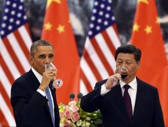 Barack Obama va visitar el seu homòleg Xi Jinping xinès el novembre de l'any passat.  REUTERS