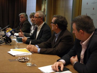 Un moment de la roda de premsa d'ahir del Consorci de la Costa Brava ACN