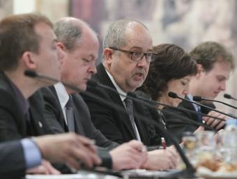 Àlex Garrido, Joan Roca, Felip Puig, Anna Erra i Xavier Ginesta en el debat coorganitzat per Alcaldes.eu, El Punt Avui i El 9 Nou ahir a El Sucre jordi puig / el 9 nou