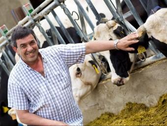 Jordi Riembau, a la seva granja de Palau Sator.  L'ECONÒMIC