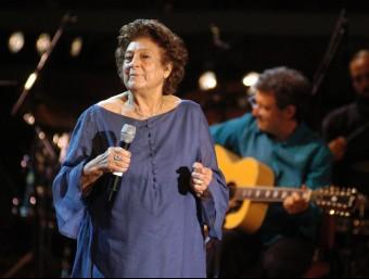 Concert d'homenatge a Teresa Rebull al Palau de la Música de Barcelona el 2006, organitzat per Òmnium Cultural. ORIOL DURAN