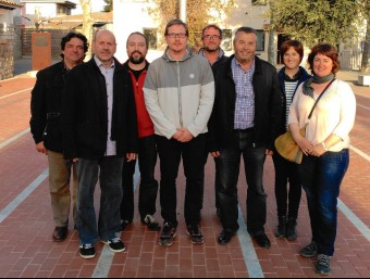 D'esquerra a dreta Josep Brucart, Xavier Cusell, Jordi Fonoll, Josep Vidal, Enric Forés, Carles Espígol, Anna Ball-llosera i Susanna Fernández EPA